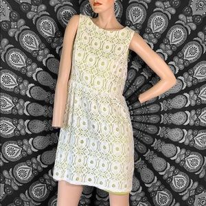 Vintage Green and white lace dress